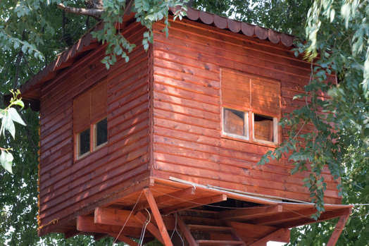 Le case sugli alberi diventano realt in trentino - Costruire case sugli alberi ...