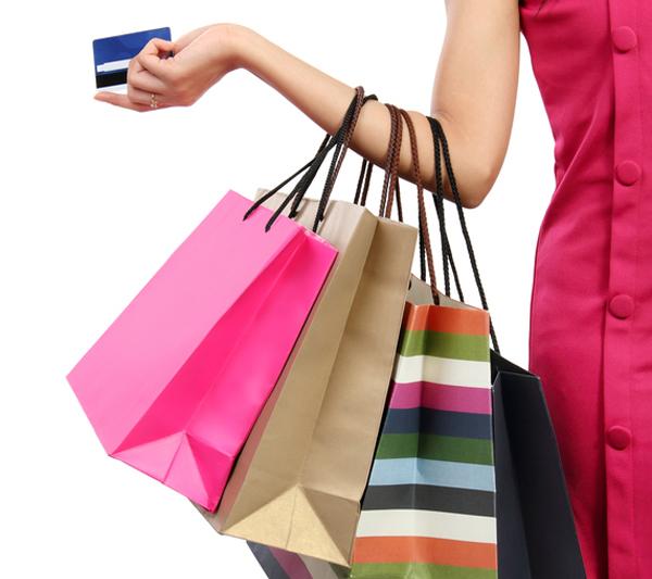 donna fa shopping
